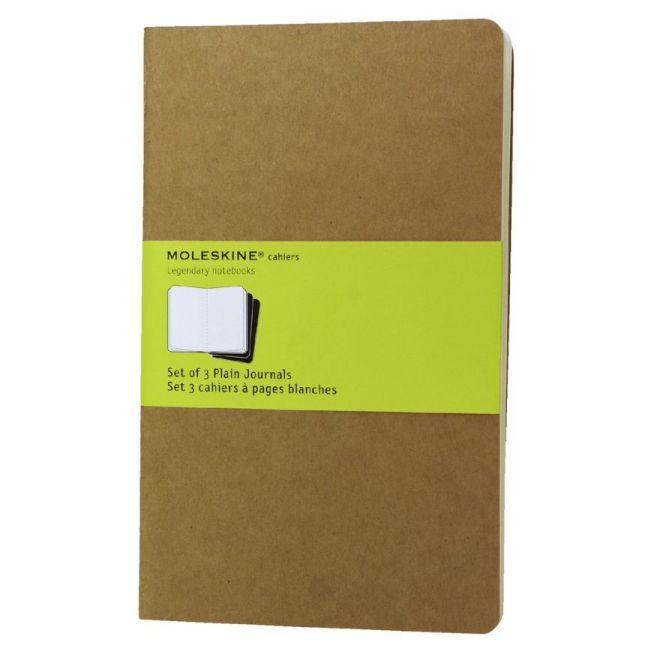 MOLESKINE CAHIER JOURNAL POCKET KRAFT BROWN PLAIN