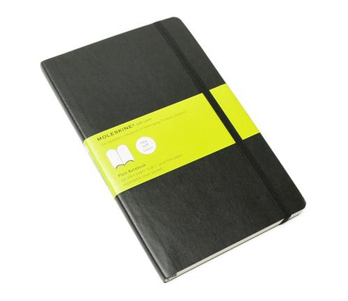 MOLESKINE NOTEBOOK LARGE PLAIN BLACK SOFT COVER