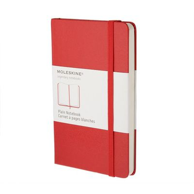 MOLESKINE NOTEBOOK LARGE PLAIN RED HARD COVER