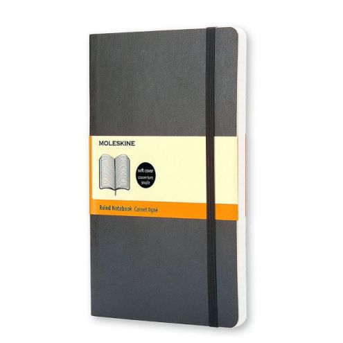 MOLESKINE NOTEBOOK LARGE RULED BLACK SOFT COVER