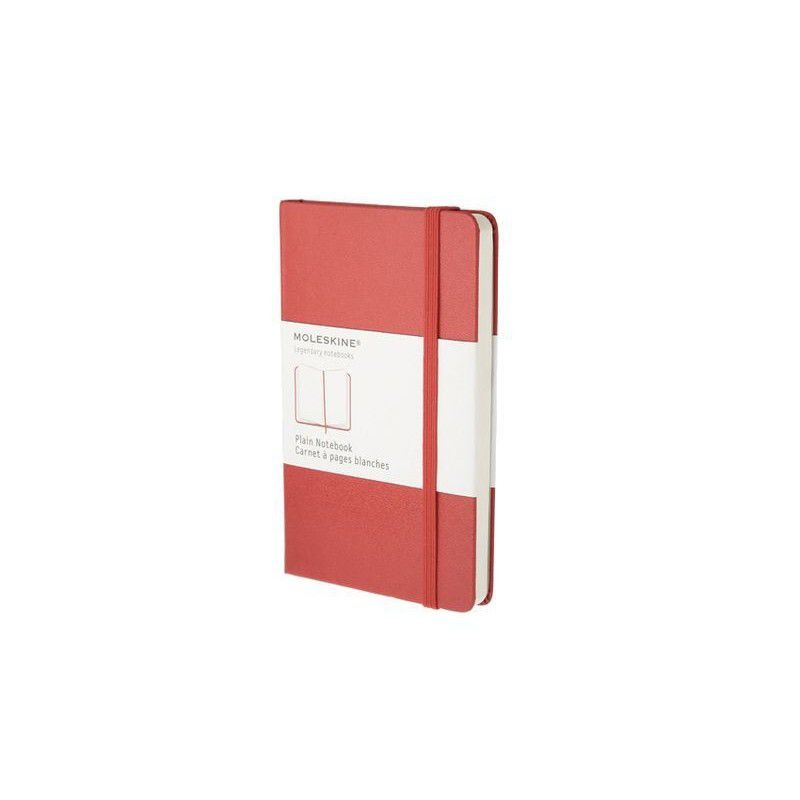 MOLESKINE NOTEBOOK LARGE RULED RED HARD COVER
