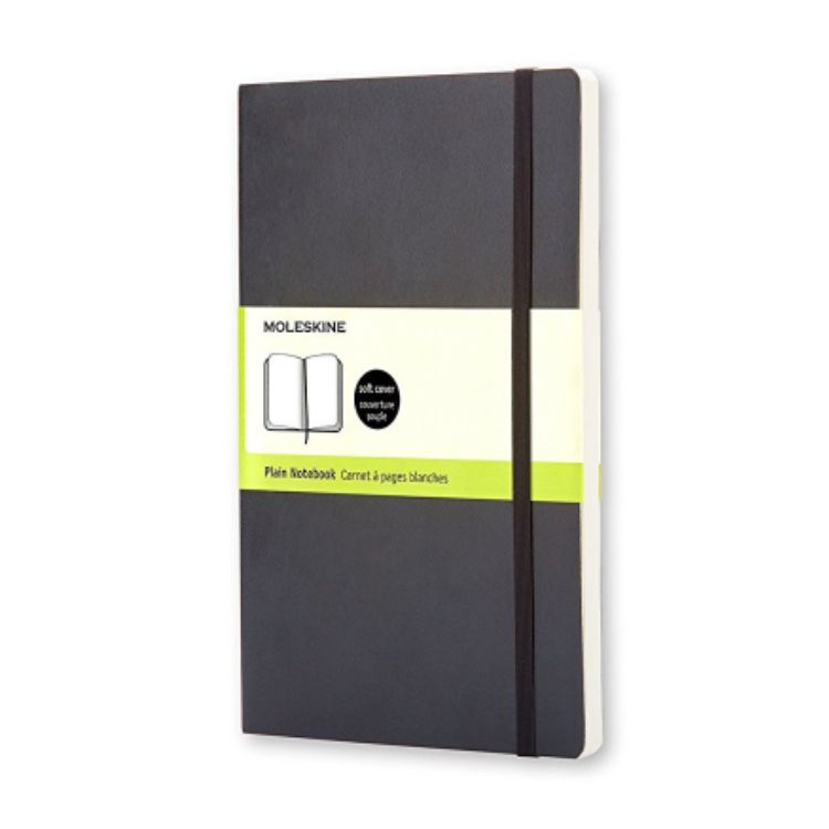 MOLESKINE NOTEBOOK POCKET PLAIN BLACK SOFT COVER