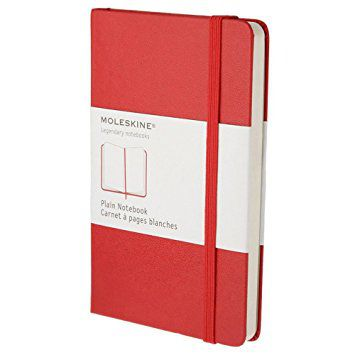 MOLESKINE NOTEBOOK POCKET PLAIN RED HARD COVER