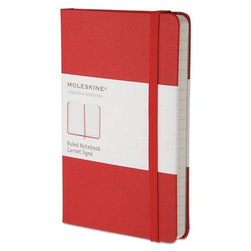 MOLESKINE NOTEBOOK POCKET RULED RED HARD COVER
