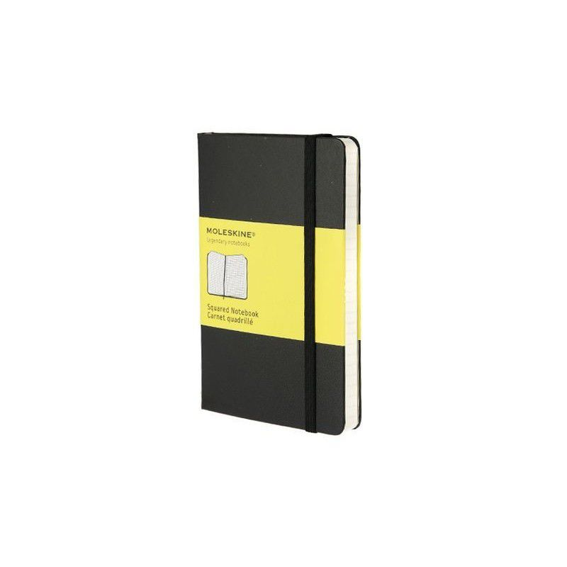 MOLESKINE NOTEBOOK POCKET SQUARED BLACK HARD COVER