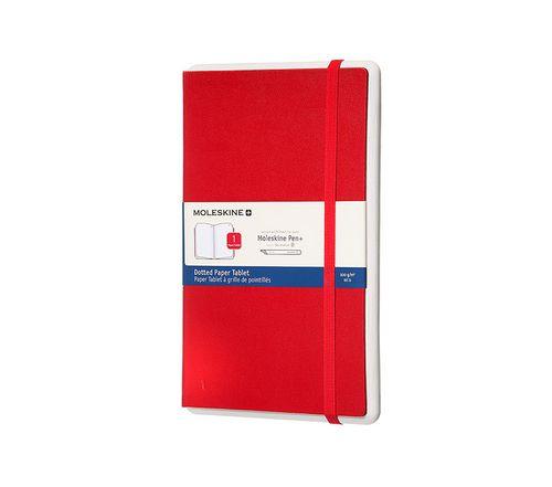 MOLESKINE PAPER TABLET PEN LARGE DOT RED HARDCOVER