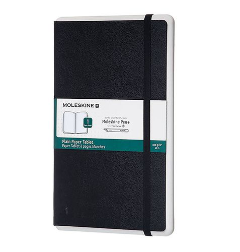Ver MOLESKINE SMART WRITING NOTEBOOK LARGE PLAIN BLACK HARD COVER