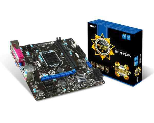 Placa Base Msi H81m-p33 V2