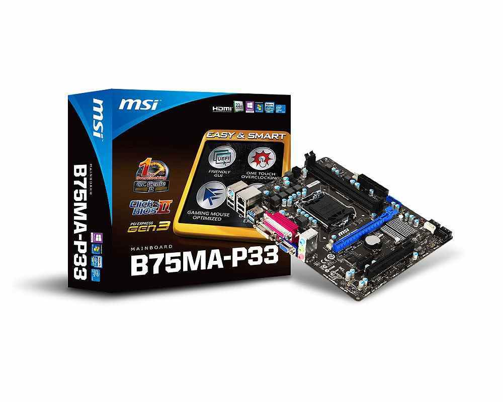 Msi Placa Base B75ma-p33