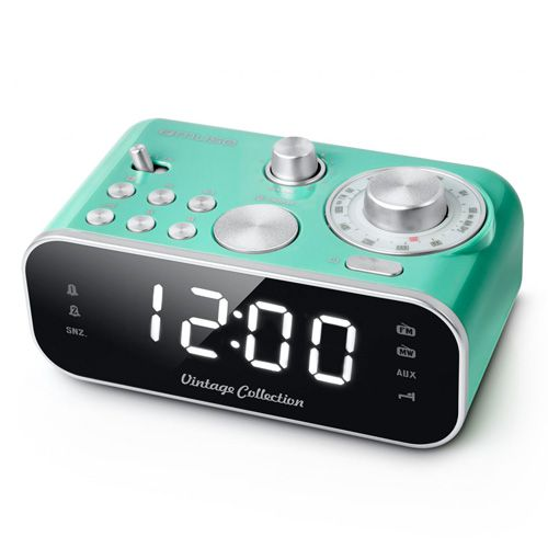 MUSE DESPERTADOR VINTAGE DOBLE ALARMA COLOR AZUL M 18 CRG