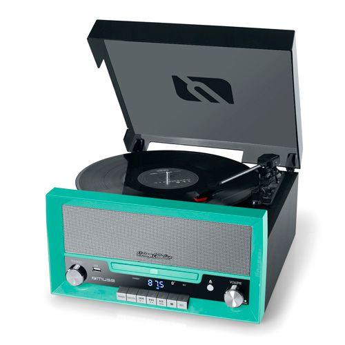 MUSE LECTOR DE VINILO MT 110 GR CD BT RADIO ENCODER ALTAVOCES