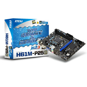 Msi Placa H61m-p25  B3  Intel