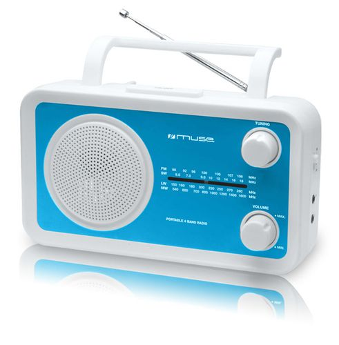 Muse M 05BL Personal Analogica Azul Color blanco radio