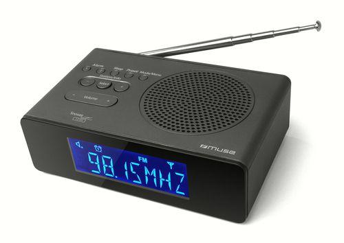 Ver Muse M 195 CDB Reloj Digital Negro radio