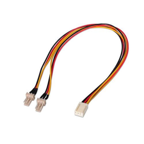 Nanocable 10190801 Interno 03m Molex 3 pin 2 x Molex 3 pin Negro Rojo Amarillo cable de tra