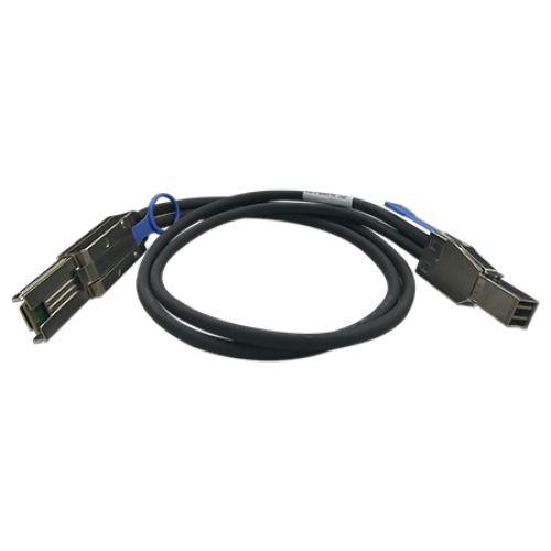 QNAP CAB SAS30M 8644 8088 1m Negro cable Serial Attached SCSI SAS