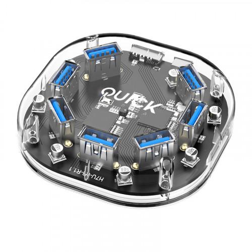 Quickmedia Hub Usb 3 0 7 Puertos Transpar