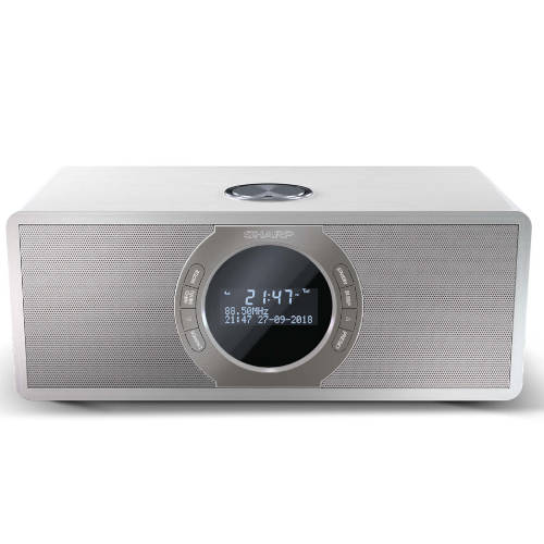 Radio Estereo Despertador Con Sintonizador Dr S460 Wh Sobremesa Blanco Sharp