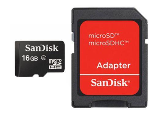 SANDISK MICROSDHC PARA TELEFONIA 16GB SD ADAPTER