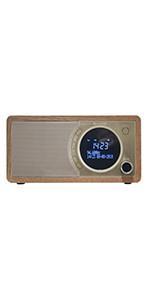 Sharp Dr I470 Br Internetradio Dab Dab Fm Radio Bt Spotify Remote Control Color Display 30w Aux In Weather Information Color Marron