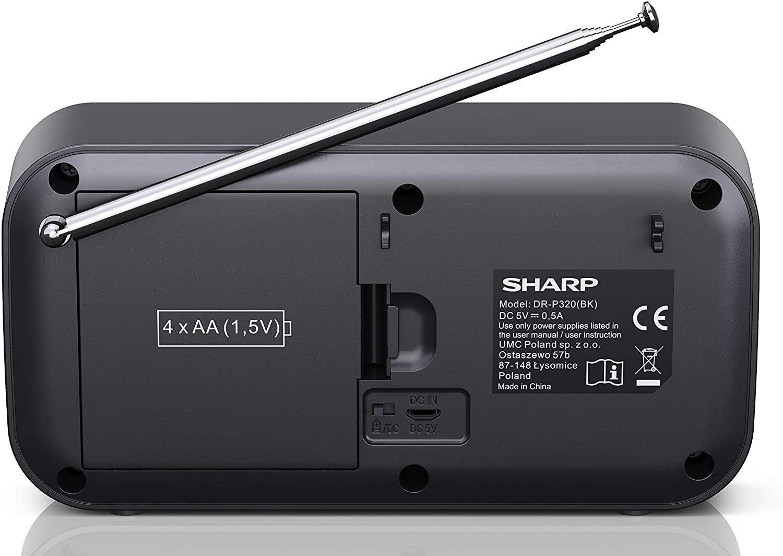 Sharp Dr P320 Bk Radio Digital Portatil