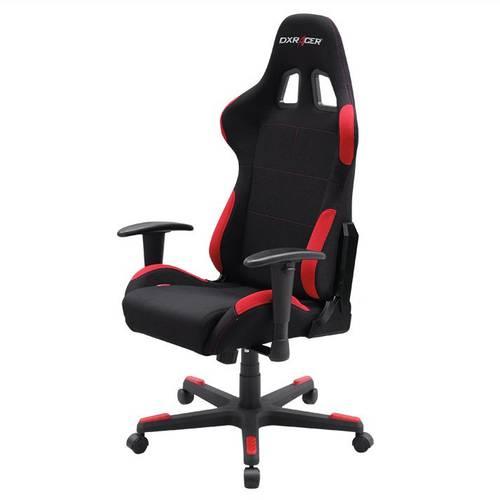 Silla Dxracer F Series Ohfl00nr Negra Roja Incluye 2 Almohadillas