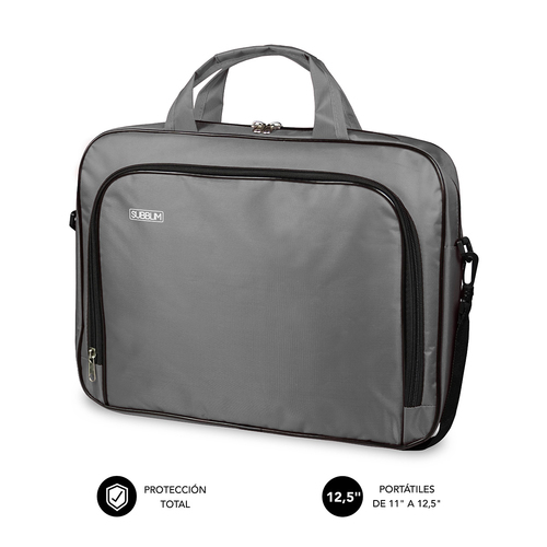 SUBBLIM Maletin Ordenador Oxford Laptop Bag 11 12 5 Grey