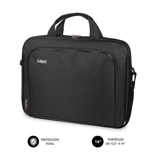 SUBBLIM Maletin Ordenador Oxford Laptop Bag 13 3 14 Black