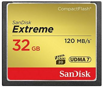 Ver Sandisk Compact Flash Extreme CF 32GB