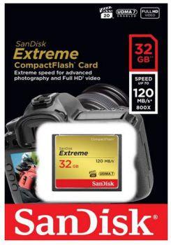Sandisk Compact Flash Extreme Cf 32gb