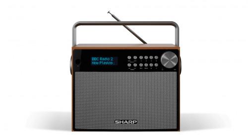 Sharp Dr P350 Radio Portatil Digital Negro Madera