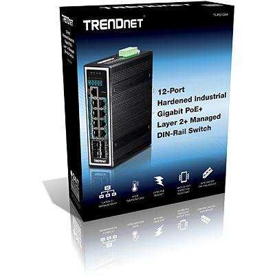 Trendnet Switch Din Rail Administrado De Capa 2 Poe 12 Puertos