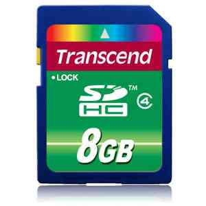 Transcend Sd 8gb High Capacity  Clase 4   Ts8gsdhc4