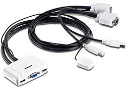 Ver Trendnet KVM Switch USB 2 Puertos TK 217i