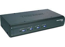 Ver Trendnet TK 423K 4 Port USB PS2 KVM Switch Kit w Audio