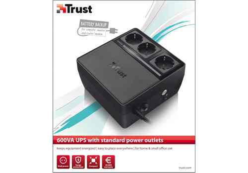 Trust 600va Ups With Standard Power Outlets