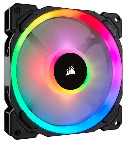 Ver VENTILADOR CAJA CORSAIR LL120 RGB 120MM DUAL LIGHT LOOP RGB LED PWM FAN CON LIGHTING NODE PRO