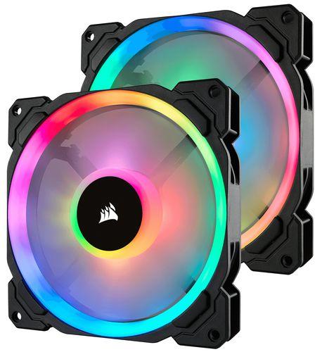 Ventilador Caja Corsair Ll120 Rgb 140mm Dual Light Loop Rgb Led Pwm Fan 2 Fan Pack Con Lighting Node