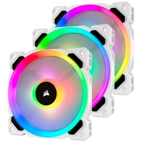 Ver CORSAIR LL120R RGB 120MM DUAL LIGHT LOOP RGB LED PACK 3 UNID BLANCO