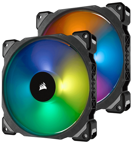 CORSAIR ML140 PRO RGB 140MM PREMIUM MAGNETIC LEVITATION RGB LED PWM FAN TWIN FAN PAC