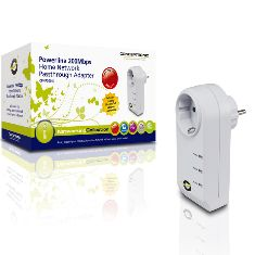 Adaptador De Red Linea Electrica Power Line 200mbps Con Toma De Corriente Conceptronic