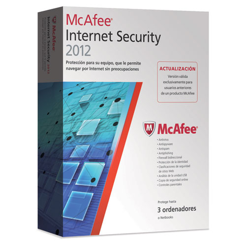 Antivirus Mcafee Internet Security 2012 Actualizacion 3 Usuarios