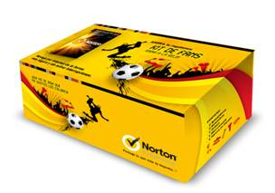 Antivirus Norton Internet  Security 3 Usuarios Kit Fans Eurocopa
