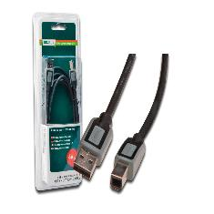 Cable Usb Digitus 20 A Macho B Macho 2m Blister Negro