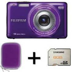 Camara Digital Fujifilm Finepix Jx550  Purpura 16 Mp Zo X 5 Hd Lcd 27 Litio   Funda   Tarjeta 8gb