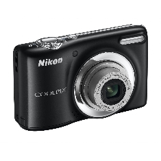 Camara Digital Nikon Coolpix L25 Negra 10 Mp Zo X5 Video Hd Kit 4gb   Funda Lcd 3 Pilas Aa