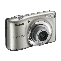 Camara Digital Nikon Coolpix L25 Plata 10 Mp Zo X5 Video Hd Kit 4gb   Funda Lcd 3 Pilas Aa