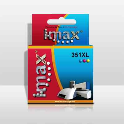 Cartucho Tinta Imax Cb338 N351xl Tricolor Hp  14ml  4250