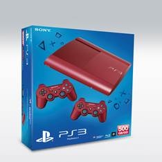 Consola Sony Ps3 500gb Garnet Red   Mando Ds3 Red