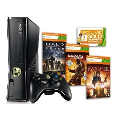 Consola Xbox 360 Premium 250 Gb   Fable Iii   Halo Reach   Gears Of War 2   3 Meses Xbox Live Gold